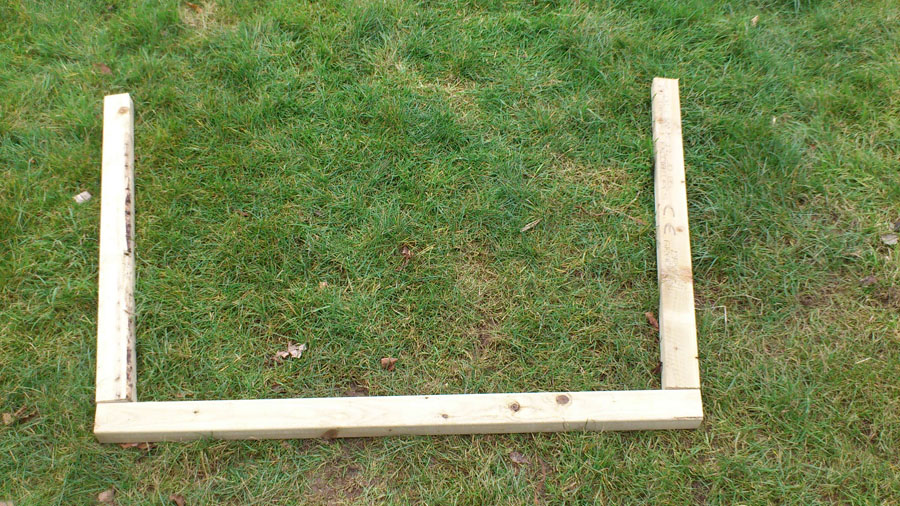4 wonky play house rear frame